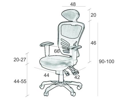 Wymiary fotela Sprint SitPlus