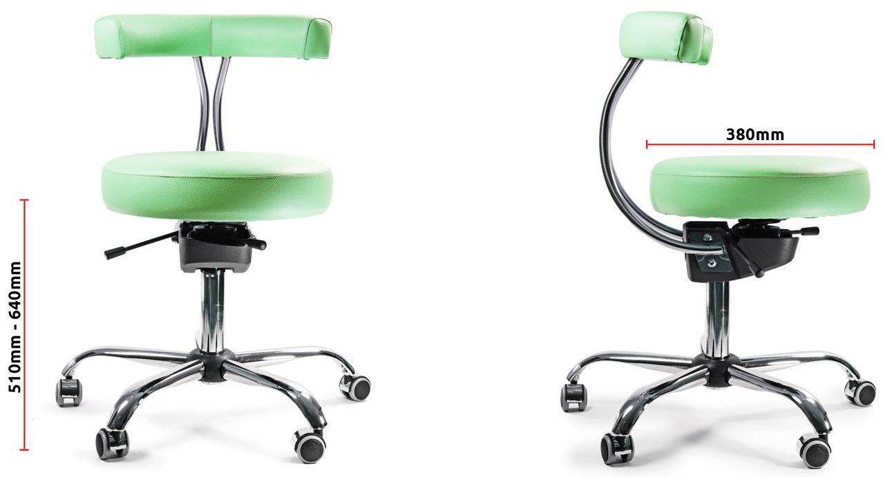 Wymiary krzesła rehabilitacyjnego Spinergo Medical