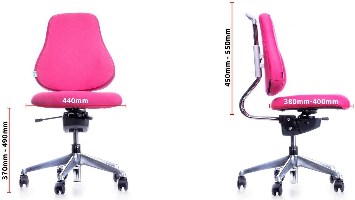 Wymiary krzesła rehabilitacyjnego młodzieżowego Spinergo Kids
