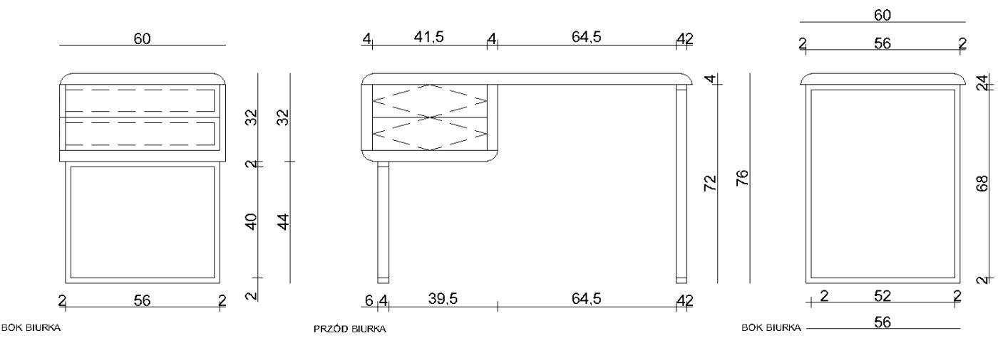 Wymiary biurka Solano Unique